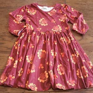 Girls fall turkey dress
